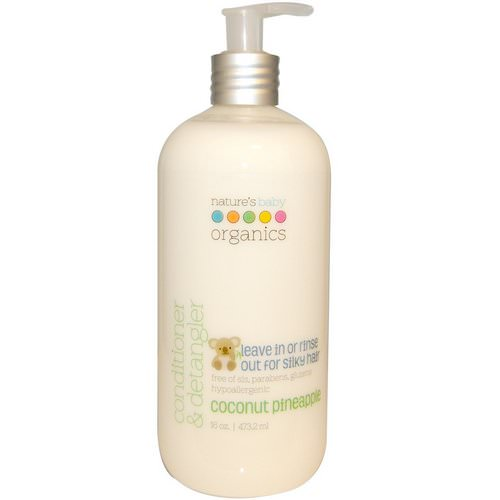 Nature's Baby Organics, Conditioner & Detangler, Coconut Pineapple, 16 oz (473.2 ml) Review