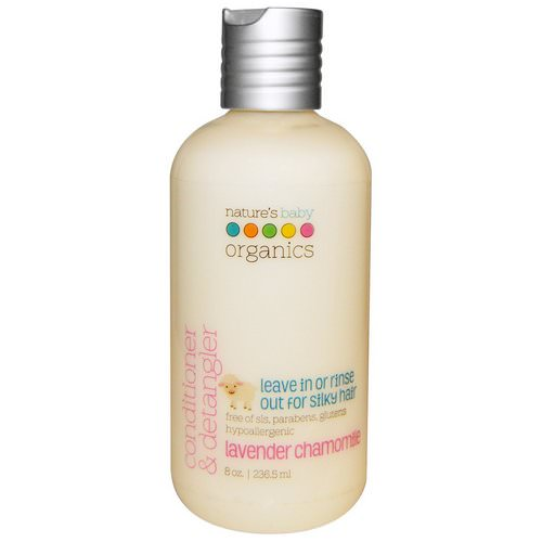 Nature's Baby Organics, Conditioner & Detangler, Lavender Chamomile, 8 oz (236.5 ml) Review