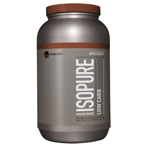 Nature's Best, IsoPure, Low Carb Protein Powder, Dutch Chocolate, 3 lb (1361 g) Review