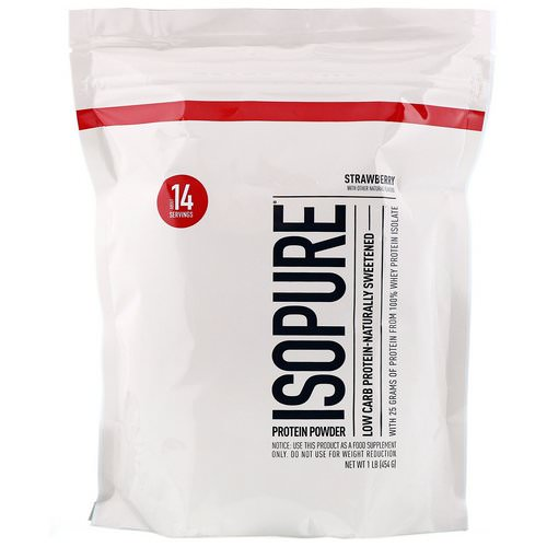 Nature's Best, IsoPure, Low Carb Protein Powder, Strawberry, 1 lb (454 g) Review