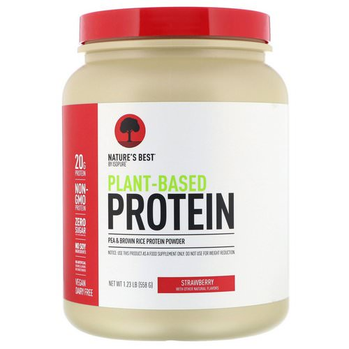 Nature's Best, IsoPure, Plant-Based Protein, Strawberry, 1.23 lb (558 g) Review