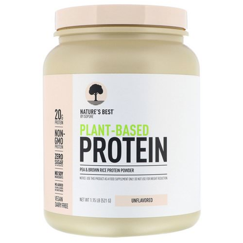 Nature's Best, IsoPure, Plant-Based Protein, Unflavored, 1.15 lb (521 g) Review