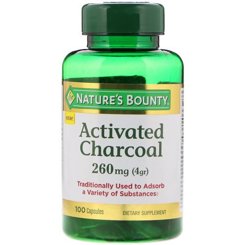 Nature's Bounty, Activated Charcoal, 260 mg, 100 Capsules Review