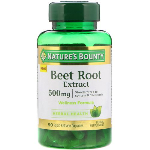 Nature's Bounty, Beet Root Extract, 500 mg, 90 Rapid Release Capsules Review