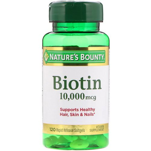 Nature's Bounty, Biotin, 10,000 mcg, 120 Rapid Release Softgels Review