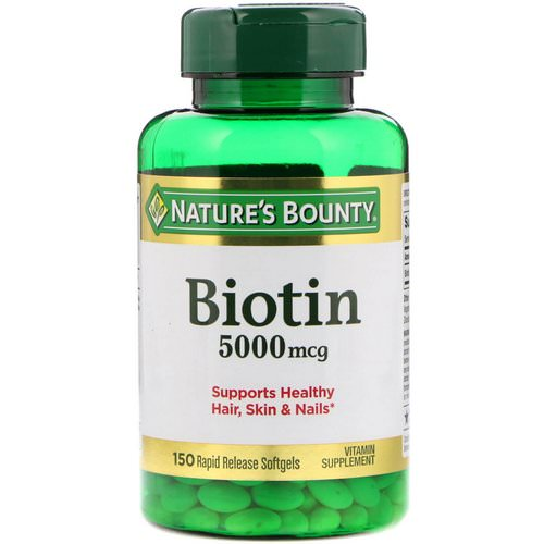 Nature's Bounty, Biotin, 5000 mcg, 150 Rapid Release Softgels Review