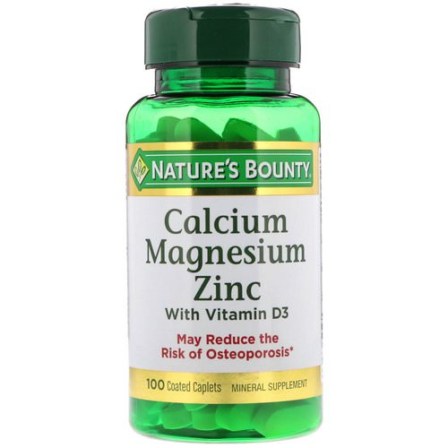Nature's Bounty, Calcium Magnesium Zinc with Vitamin D3, 100 Coated Caplets Review