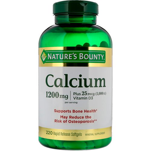 Nature's Bounty, Calcium Plus Vitamin D3, 1200 mg, 220 Rapid Release Softgels Review