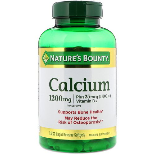 Nature's Bounty, Calcium Plus Vitamin D3, 1200 mg, 120 Rapid Release Softgels Review