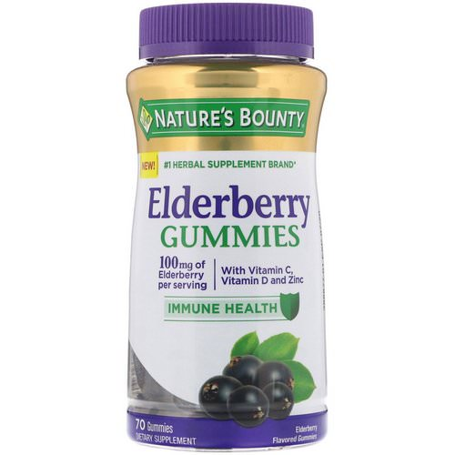 Nature's Bounty, Elderberry Gummies, 100 mg, 70 Gummies Review