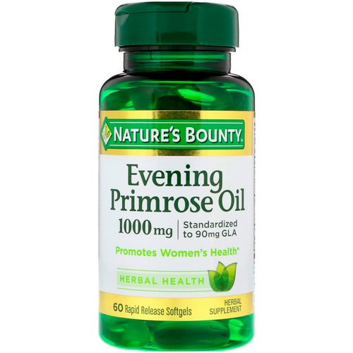 Nature's Bounty, Evening Primrose Oil, 1,000 mg, 60 Rapid Release Softgels Review