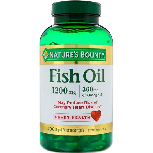 Nature's Bounty, Fish Oil, 1,200 mg, 200 Rapid Release Softgels Review