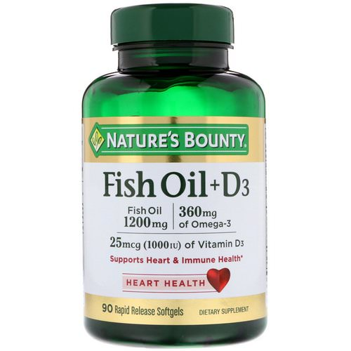 Nature's Bounty, Fish Oil + D3, 90 Rapid Release Softgels Review