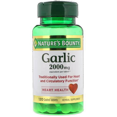 Nature's Bounty, Garlic, 2,000 mg, 120 Coated Tablets Review