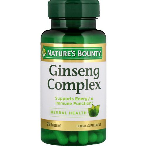 Nature's Bounty, Ginseng Complex, 75 Capsules Review