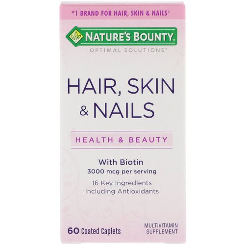 Nature's Bounty, Hair, Skin & Nails, 60 Coated Caplets Review