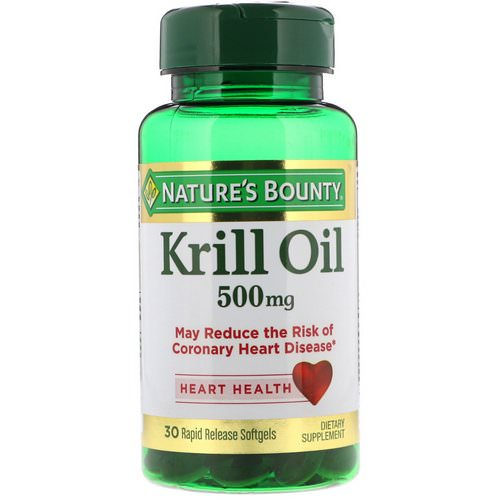 Nature's Bounty, Krill Oil, 500 mg, 30 Rapid Release Softgels Review