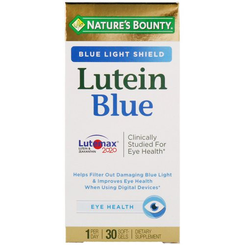 Nature's Bounty, Lutein Blue, 30 Softgels Review