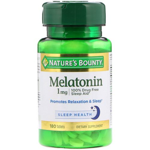 Nature's Bounty, Melatonin, 1 mg, 180 Tablets Review