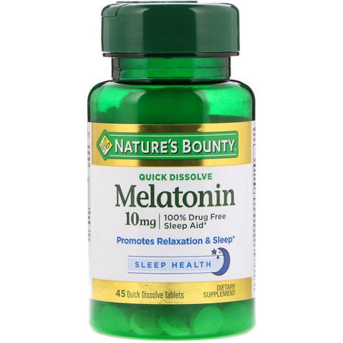 Nature's Bounty, Melatonin, Quick Dissolve, 10 mg, 45 Quick Dissolve Tablets Review