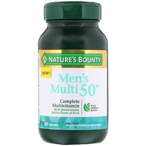 Nature's Bounty, Men's Multi 50+, Complete Multivitamin, 80 Tablets Review