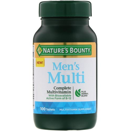 Nature's Bounty, Men's Multi, Complete Multivitamin, 100 Tablets Review