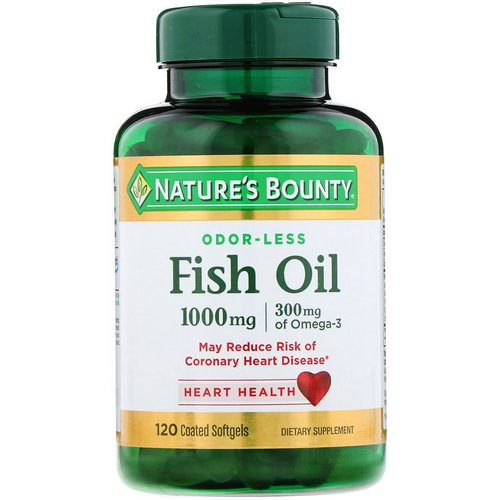 Nature's Bounty, Odorless Fish Oil, 1,000 mg, 120 Coated Softgels Review