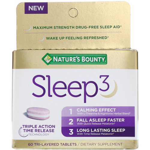 Nature's Bounty, Sleep3, 60 Tri-Layered Tablets Review