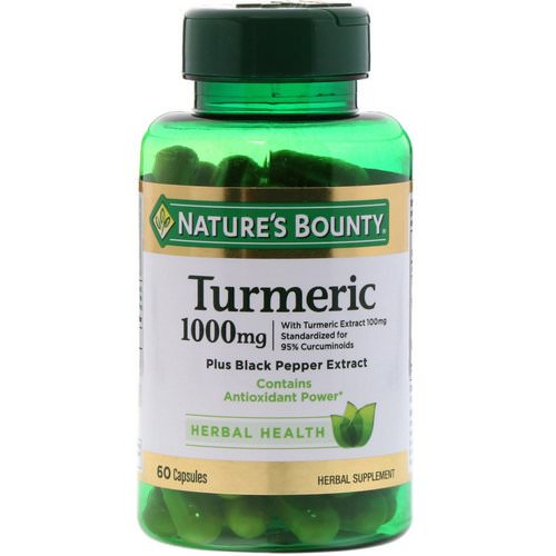 Nature's Bounty, Turmeric, 1000 mg, 60 Capsules Review