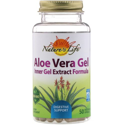 Nature's Life, Aloe Vera Gel, 50 Vegetarian Capsules Review