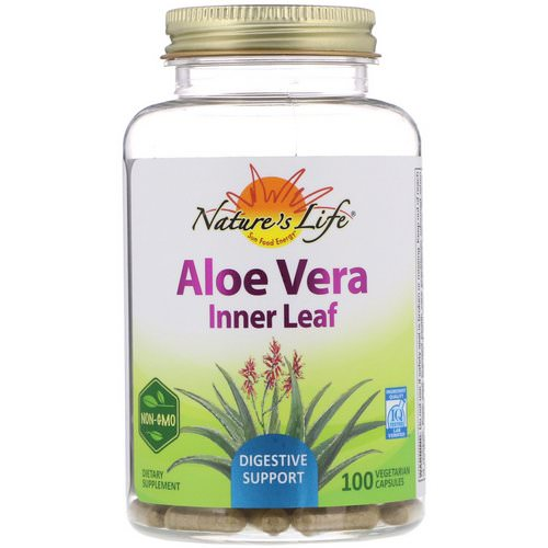 Nature's Herbs, Aloe Vera, Inner Leaf, 100 Vegetarian Capsules Review