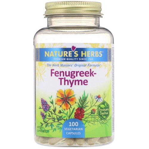 Nature's Herbs, Fenugreek-Thyme, 100 Vegetarian Capsules Review