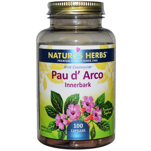 Nature's Herbs, Pau d' Arco, Innerbark, 100 Capsules Review