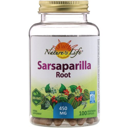 Nature's Life, Sarsaparilla Root, 450 mg, 100 Vegetarian Capsules Review