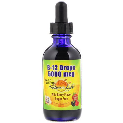 Nature's Life, B-12 Drops, Wild Berry Flavor, 5000 mcg, 2 fl oz (60 ml) Review