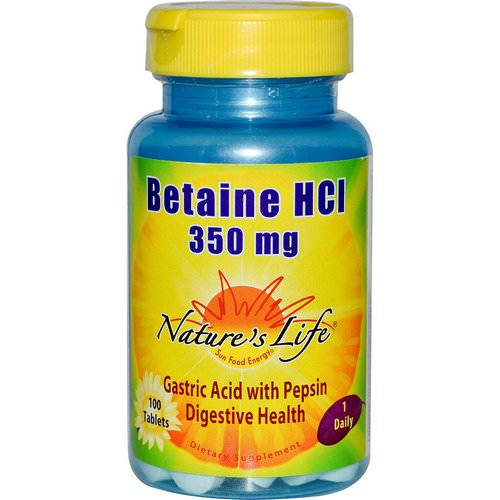 Nature's Life, Betaine HCL, 350 mg, 100 Tablets Review