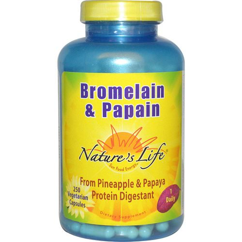 Nature's Life, Bromelain & Papain, 250 Veggie Caps Review