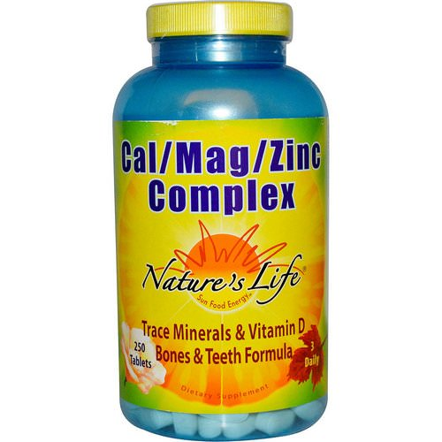 Nature's Life, Cal / Mag / Zinc Complex, 250 Tablets Review