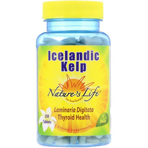 Nature's Life, Icelandic Kelp, 250 Tablets Review