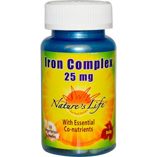 Nature's Life, Iron Complex, 25 mg, 50 Veggie Caps Review