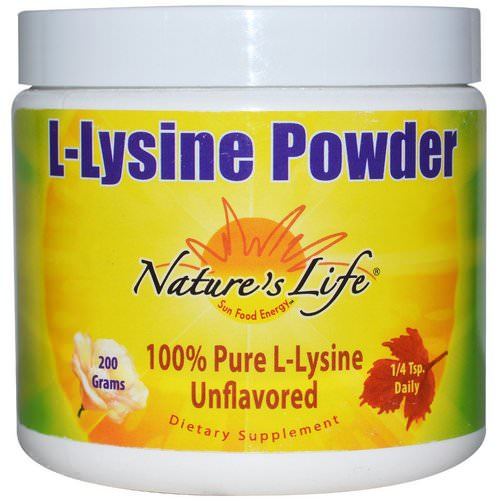 Nature's Life, L-Lysine Powder, Unflavored, 200 g Review