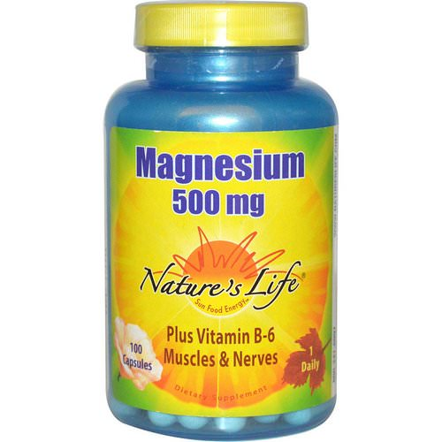 Nature's Life, Magnesium, 500 mg, 100 Capsules Review