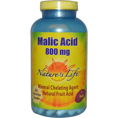 Nature's Life, Malic Acid, 800 mg, 250 Veggie Caps Review