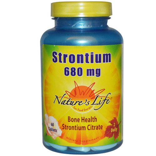 Nature's Life, Strontium, 680 mg, 60 Tablets Review
