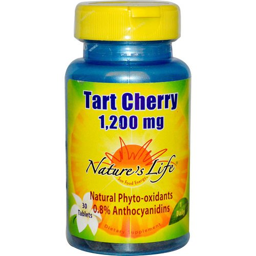 Nature's Life, Tart Cherry, 1,200 mg, 30 Tablets Review