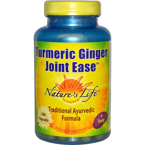 Nature's Life, Turmeric Ginger Joint Ease, 100 Capsules Review