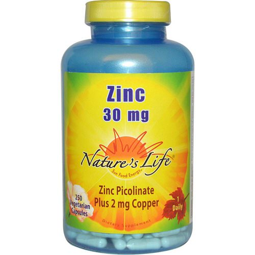 Nature's Life, Zinc, 30 mg, 250 Veggie Caps Review