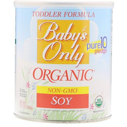 Nature's One, Baby's Only Organic, Toddler Formula, Soy, 12.7 oz (360 g) Review
