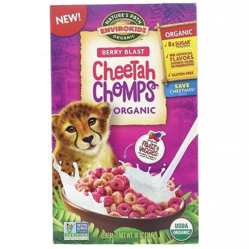 Nature's Path, EnviroKidz, Organic Berry Blast Cheetah Chomps, 10 oz (284 g) Review
