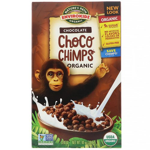 Nature's Path, EnviroKidz, Organic Chocolate Choco Chimps, 10 oz (284 g) Review